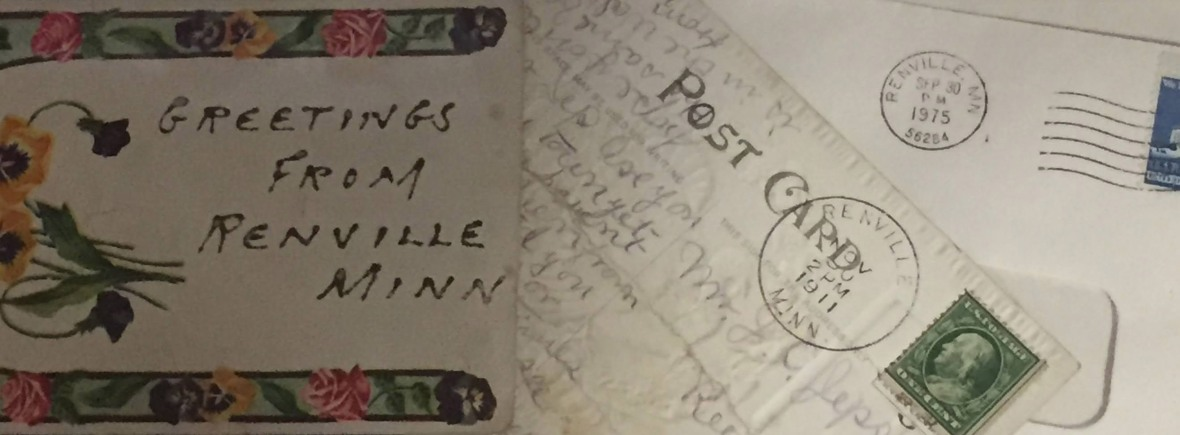Postcards to and from Renville