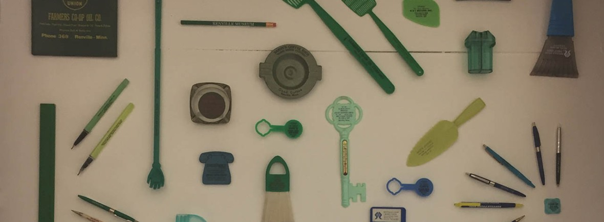 Selection of items from the Renville business souvenir display